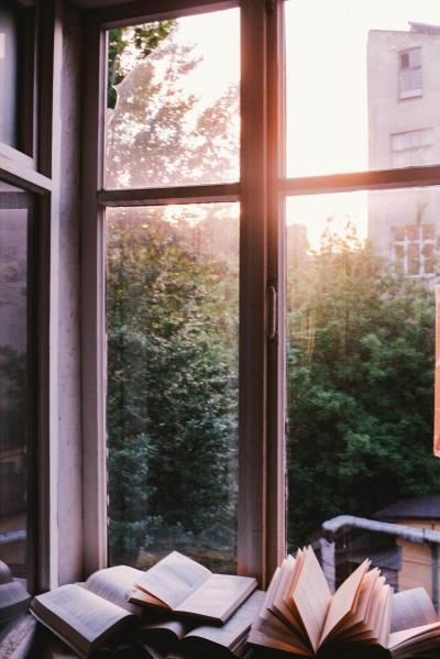 books with window