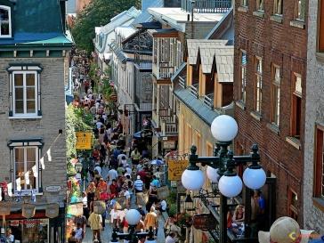 Rue du Petit Champlain au Québec